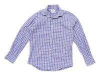 TM Lewin Mens Size S Cotton Check Blue Casual Shirt