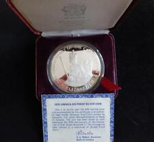 1978 SILVER PROOF 4OZ JAMAICA $25 COIN BOX + COA QUEEN'S CORONATION ANNIVERSA