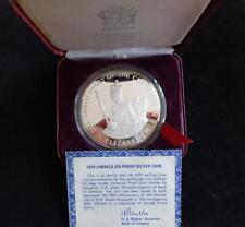 1978 SILVER PROOF 4OZ JAMAICA $25 COIN BOX + COA QUEEN'S CORONATION ANNIVERSA