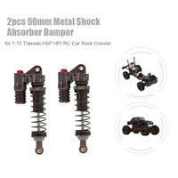 2Pcs RC Car Parts 90mm Metal Shock Absorber Damper for 1:10 Traxxas HSP T6E2