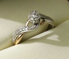 14K multi color gold Fred Meyer 0.25 cttw Diamond Ring, size 6.5, 2.25g
