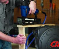 Air Hose Compressor Tool  Retractable Reel 50 ft. PVC Accessories Mountable