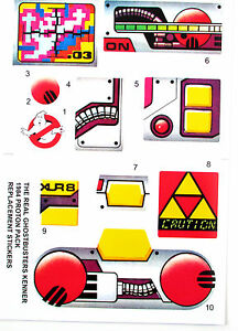 PROTON PACK THE REAL GHOSTBUSTERS (For KENNER ) replacement Sticker set , NICE!