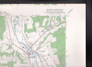 Belmont Quadrangle Allegany County NY US Geological Survey Map 1965
