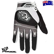ROYAL VICTORY GLOVES Black/White/Graphite Cycling Bike Gloves ==BRAND NEW==