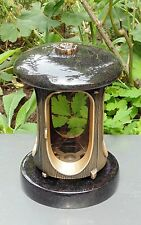 Grabschmuck, Grableuchte, Farbe Bronze, Granit Schwedisch mit Rosette