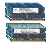 40GB RAM Nanya 10Pcs 4GB 2RX8 PC3-10600S DDR3 1333Mhz Memory RAM SODIMM Laptop