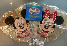 Disney NEW photo album & 7 Mickey & Minnie Mylar balloons ..NEW..made by Disney