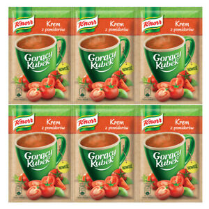 KNORR Instant SOUP CREME Of TOMATOES - Goracy Kubek 6X 13G - FREE Shipping USA