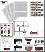 1 LOOK 338425 MÜNZHÜLLEN NUMOH EURO NH24 KURSMÜNZENSÄTZE + FLAGGEN SLOWENIEN