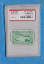 #1009 1952 Grand Coulee Dam 3 Cent Pse Encapsulated & Graded Xf- Sup 95 Ognh