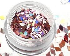 Nail Art Glitter Schimmer Pailletten als Viereck 2 x 2 mm in der Farbe Rosa