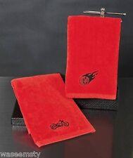 Red Black Biker Motorcycle Fire Speed Hot Wheel Bathroom Hand Towel Set Decor