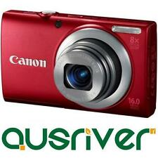 "Canon Power Shot Powershot A4000 IS 16MP 4x Red Digital Camera 3""LCD 8x Optical"