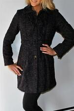 New Womens Guess Los Angeles Purple Tweed Wool Skirted Pleated Coat Medium