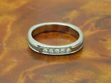 14kt 585 Weißgold Ring mit 0,10ct Brillant Besatz / Diamant / 3,7g / RG 52