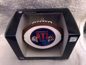 Super Bowl 53 LIII Los Angeles LA Rams New England Patriots CHRISTMAS ORNAMENT