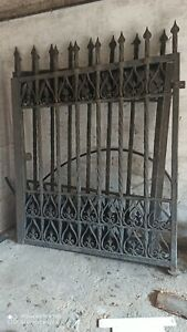 Gate Wrought Iron, All Hand Painted, One Piece