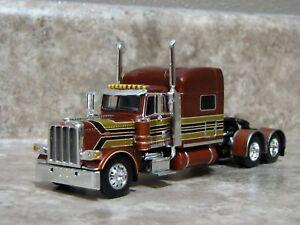 DCP 1/64 Bronze Brown Black Peterbilt Semi Truck Farm Toy