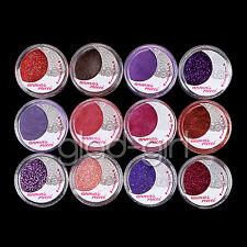 12 Color Powder Pigment Glitter Sheet Eyeshadow Cosmetic Eye Shadow Makeup Set#3