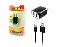 Rapid 2.1A Type C  Home / Travel dual USB adapter + data cable for  LG V20