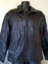 Men's Boston Harbour Black Leather Jacket Coat M Full Zip Soft Buttery