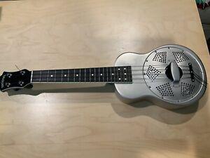 National Guitar Steel Resonator Ukulele - With Case, Exc. Cond.