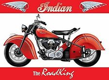 Indian Roadking small metal sign 200mm x 150mm (og)