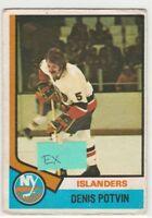 1974 74-75 O-Pee-Chee #195 Denis Potvin RC Rookie EX