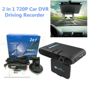 Car SUV DVR Camera Driving Recorder Backup Camera 2 in 1 720P Dash Cam Radar Kit