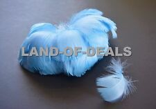 Small Light Blue curled goose coquille feathers millinery craft Wholesale bulk