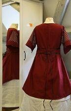 Mittelalter Kleid Tunika Gewand LARP Gothic   Größe  46 48 50 XXL rot kurzarm