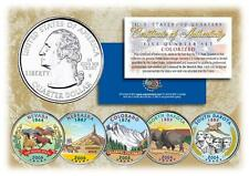 2006 COLORIZED US MINT STATE QUARTERS * Complete Set of 5 Coins * with Capsules
