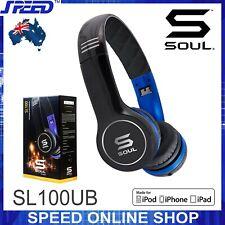 SOUL SL100UB by Ludacris - Ultra Dynamic On-Ear Headphones - (Blue & Black)
