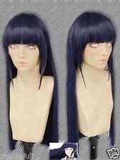 Hyūga Hinata Cosplay Wig Dark blue Long Party Wig