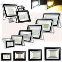 LED Floodlight Motion Sensor PIR 20/50/100W Security Garden Outdoor Flood Lights