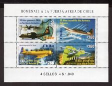 CHILE 2001 MS STAMP # 2049/52 MNH AIRCRAFT AIR FORCE