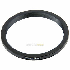 58mm to 52mm 58-52 mm Male to Female Step-Down Photo Lens Filter ND Ring Adapter