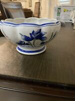 Vintage AAA Imports Decoware Fine Pottery Blue Floral Planter - Apopka, FL
