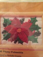 "The Creative Circle Stitchery Kit Pretty Poinsettia # 2180 5"" x 7"" finished NOS"