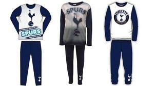 Boys Tottenham Hotspur Pyjamas SPURS PJs Nightwear 2 - 12 Years Long Sleeve