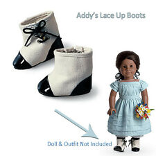 American Girl ADDY LACE UP BOOTS Black Shoes Historical Colonial Addy's NEW