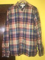 H&M L.O.G.G. Men's XL Regular Fit Plaid Cotton LS Button Down Shirt C4