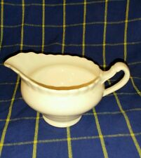 Vintage Collectable J&G Meakin White Porcelain MilkCream Jug~Saw tooth Rim~