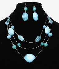 New Necklace with Turquoise Colored Beads & Earrings from Dress Barn #N2623