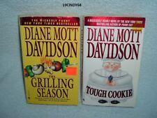 "2 DIANE MOTT DAVIDSON COZY MYSTERY PAPERBACKS ""GRILLING SEASON"" & ""TOUGH COOKIE"""