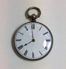 "Antique ""Fine Silver"" Maier Geneve Fob Watch Not Working 3.5cm Face Diameter"