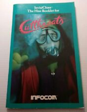 Vintage 1984 ~ INFOCOM CUTTHROATS ~ Macintosh / Apple Computer Game INSTRUCTIONS