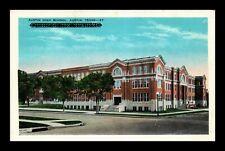 US POSTCARD AUSTIN HIGH SCHOOL AUSTIN TEXAS WHITE BORDER UNUSED