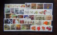 South Africa 1980 1985 sets Flowers Paintings Navy TB Orchids Cancer Deaf MNH
